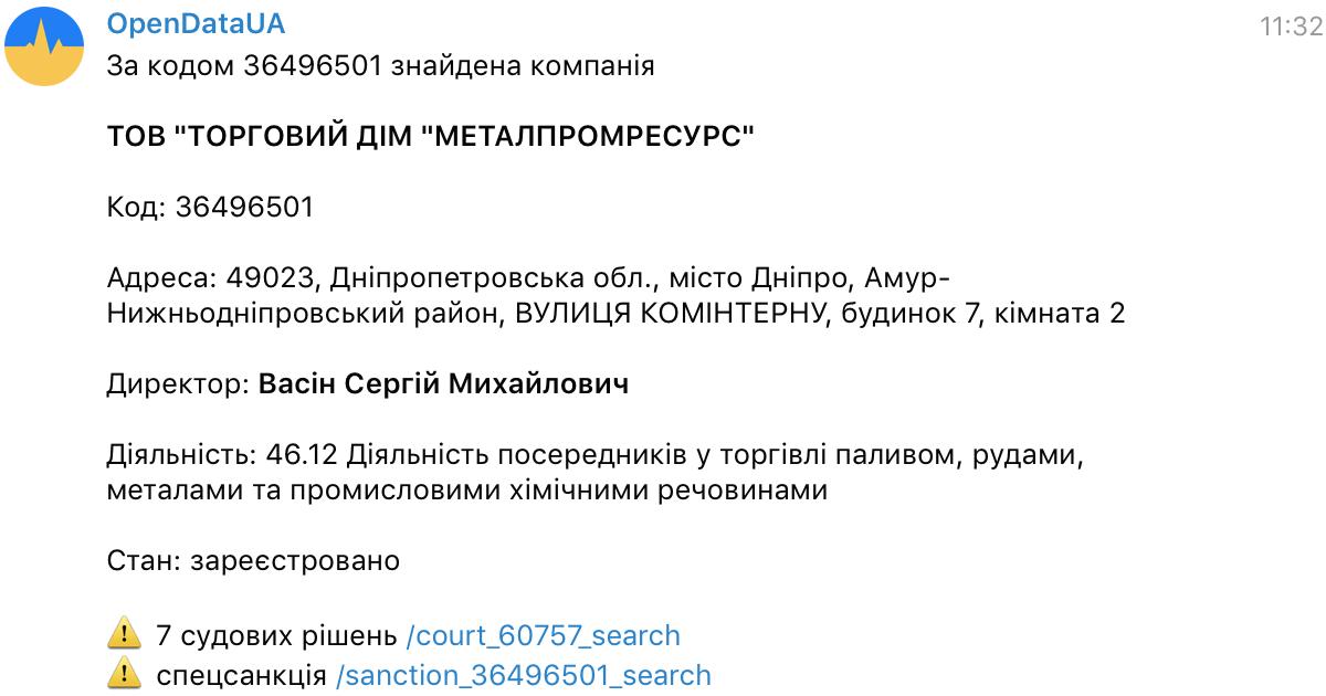 Opendatabot починає моніторити реєстр спеціальних санкцій