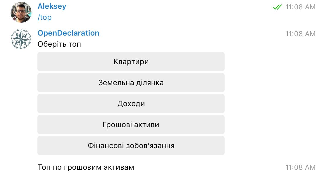 Бот декларацій українських чиновників